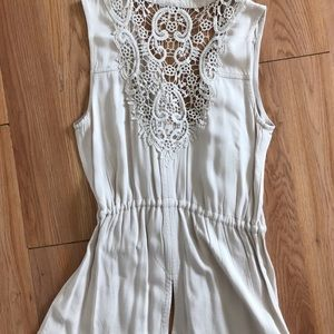 Maurices vest with lace detailing